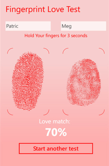 Приложение Fingerprint Love Test