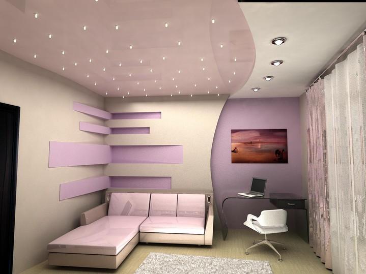 Дизайн потолок из гипсокартона квартир в