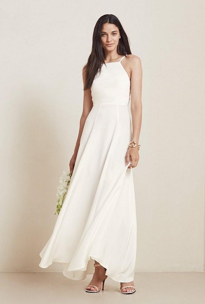 Платье свадебное простого кроя