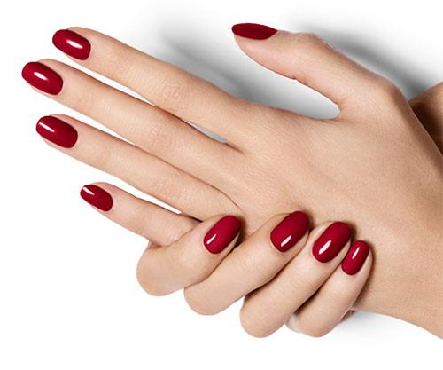 Дизайн коротких ногтей однотонный