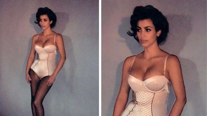Ким Кардашьян мечтает о стройной фигуре, как 10 лет назад