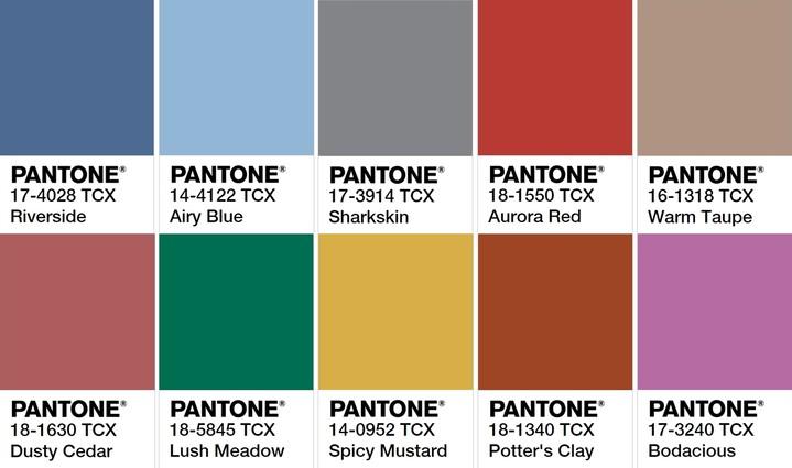 Colour trends interiors 2017 - 2016