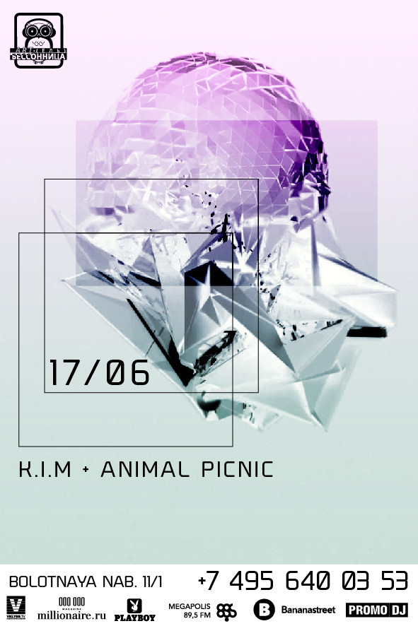 17.06 FRIDAY WITH ANIMAL PICNIC + K.I.M в Артель Бессонница