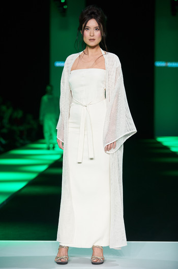 Гога Никабадзе и сеанс медитации на подиуме Mercedes-Benz Fashion Week Russia