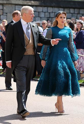Принцесса Беатрис с гостем церемонии