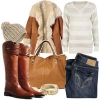 Теплая зимняя одежда - длинный мех, овчина, шерсть и пух.  За окном - 20.