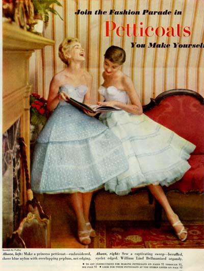 Он же ввел в моду культовые для 1950-х знаменитые короткие (чуть.