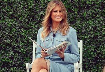 Фото: Мелания Трамп в модном платье в горох