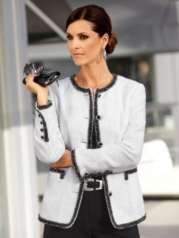 жакет спицами стиль Шанель - Лучшие концепции стиля и моды.