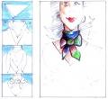 """Как завязывать шарф узлом  """"аскот """"?  Кокетливый узел, придающий образу строгий и одновременно романтичный стиль в..."""
