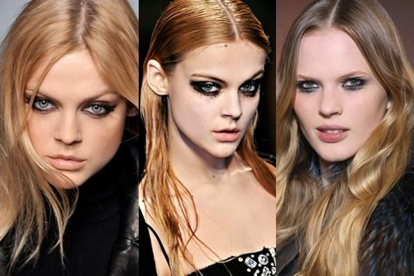 Основная тенденция гранж-макияжа - выделение глаз.