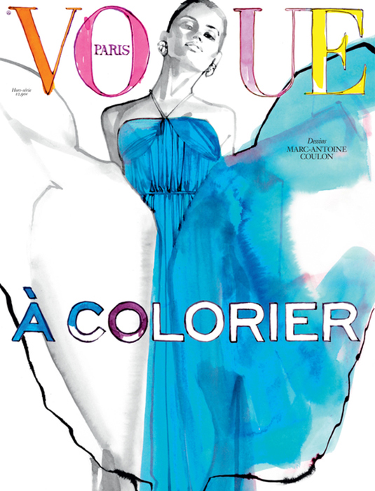 Французский Vogue выпустит журнал-раскраску