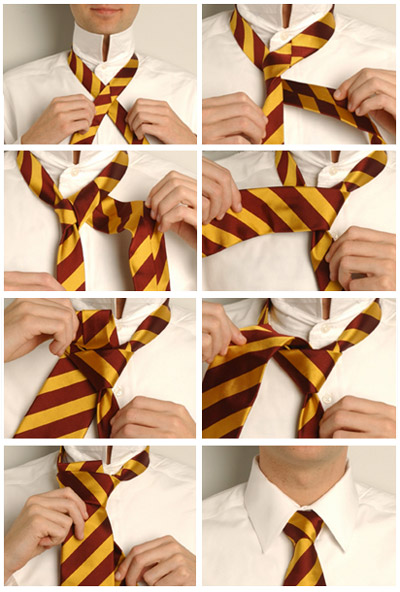How to tie a tie knot at the Cross