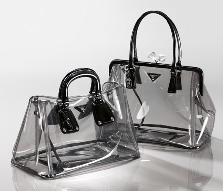 прозрачная женская сумка прада 2012.