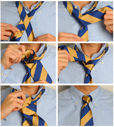 Small knot for a tie