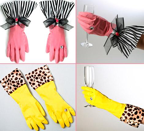 Резиновые перчатки с бриллиантами Spoon Sisters.  470x428 - 500x469 ledi.belki.info.