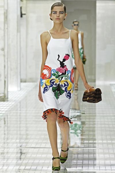 Prada Spring/Summer 2011 на Миланской Неделе моды Фото