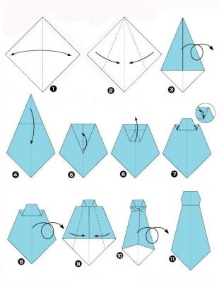 Поделки из бумаги к 23 февраля оригами рубашка Открытка рубашка с галстуком мастер класс подарки своими руками на 23...