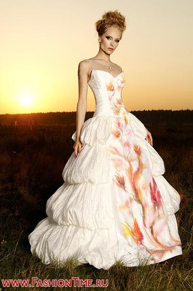 Цветное свадебное платье Токио.