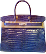 ����� ��� �������� ������ - Blue Diamond Porosous Crocodile Birkin bag