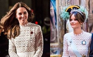 Фото: Две принцессы копируют образ Кейт Миддлтон в кружевном платье