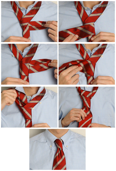 How to tie a tie knot at the Prince Albert