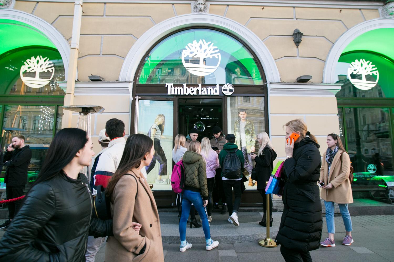 Фото: В Санкт-Петербурге состоялось открытие флагманского магазина Timberland