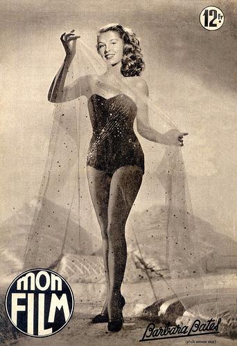 мода 50-х, шик страсть+ скромность.