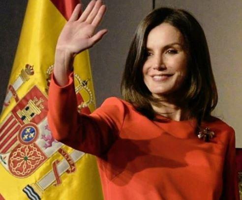 Фото: Платье с голографическим эффектом королевы Испании взорвало Сеть