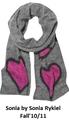 """Стильно смотрится  """"кудрявый """" шарф, оригинально связан с  """"теплый """" ниток."""