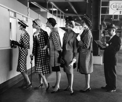 Платья в горошек фото 1950 год