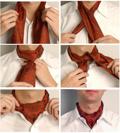 """""""АСКОТ """"(шейный мужской платок) Довольно широкая повязка, которую раньше обматывали вокруг шеи один или два раза..."""