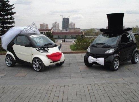 Saloon :: свадебное украшение машин, фото