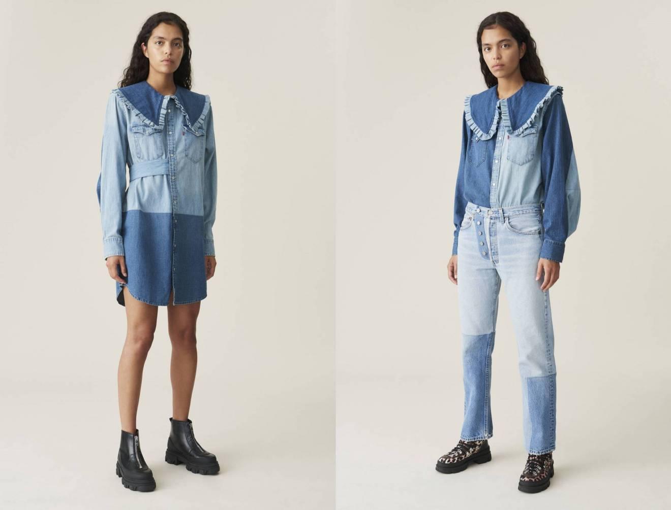 Ganni и Levi's представили коллекцию экологичных джинсов
