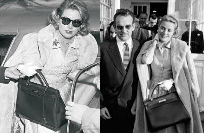 Грейс Келли и сумка Kelly от Hermes.