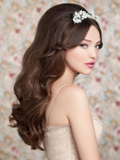 свадебные прически на длинных волосах