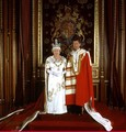 The Queen and the Prince of Wales in Parliamentary Robes