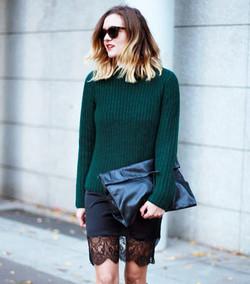 Платье комбинация со свитером