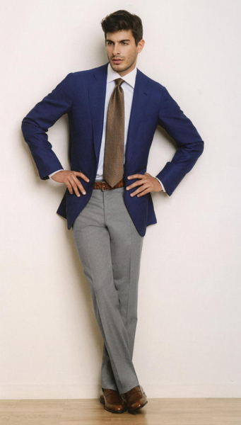 Пиджак и брюки разного цвета для мужчин