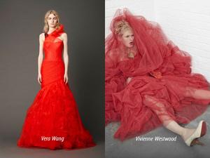 Мировые дизайнеры создали коллекции красных свадебных платьев