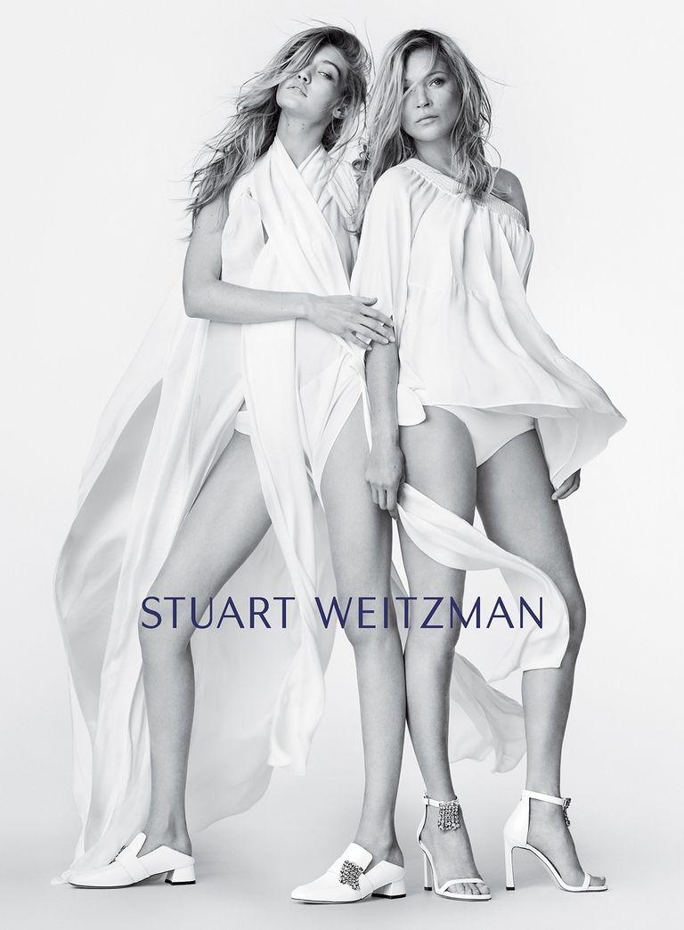 Фото: Джиджи Хадид и Кейт Мосс впервые снялись вместе для Stuart Weitzman
