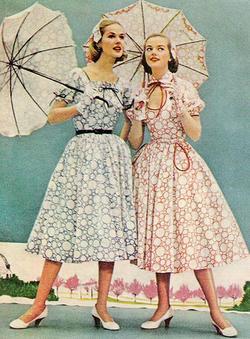 стиль 50-х годов в одежде фото